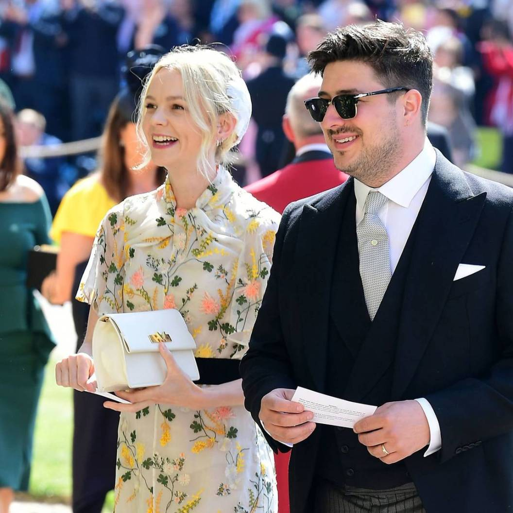 British musician Marcus Mumford and British actor Carey Mulligan arrive for the wedding ceremony of Britain's Prince Harry, Duke of Sussex and US actress Meghan Markle at St George's Chapel, Windsor Castle, in Windsor, on May 19, 2018. / AFP PHOTO / POOL / Ian WestIAN WEST/AFP/Getty Images