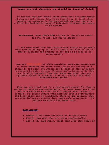 manifesto feminist 1